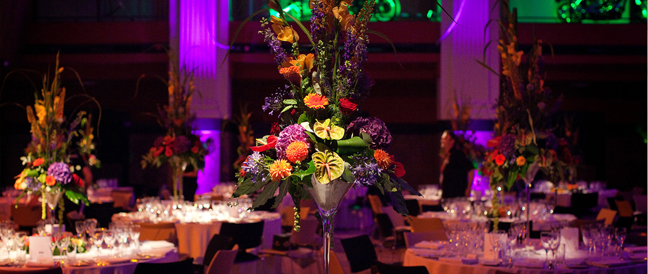 Unique table centrepieces from Softley Events