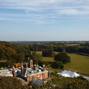 Softley Events - Sennowe Park - View from above